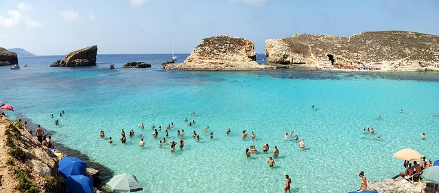 The Blue Lagoon, one of Malta's finest and most picturesque beaches. ©Ondablv/flickr