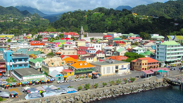 Roseau, the capital of Dominica seen from above, surrounded by its trademark nature ©Mike LaMonaca/flickr