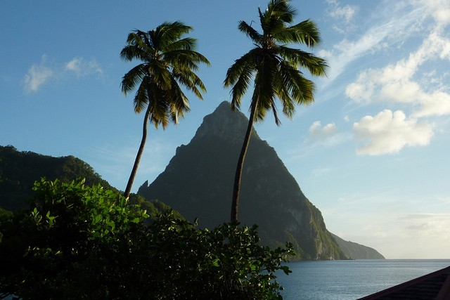 The Pitons, Saint Lucia's best natural landscape that is recognized by UNESCO as a natural heritage site ©OasisMarigot/flickr