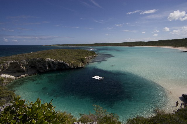 Dean's Blue Hole seen from above, one of the most beautiful sights of the island Daan Verhoeven/flickr