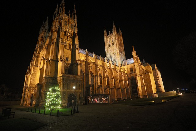 Cathedral of Canterbury, during night Phil Trease/flickr