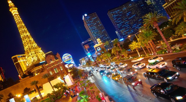 The Las Vegas Strip by night