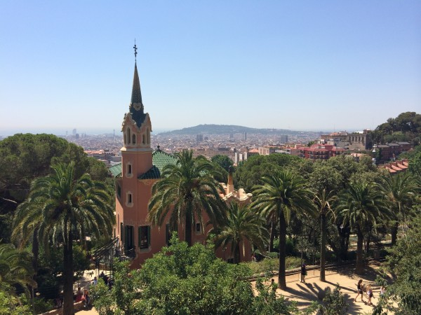 Park Guell seen from a part