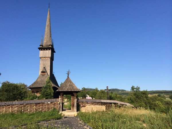 A typical wooden church of Maramures, Romania. This is the Church of The Holy Archangels, Plopis, Romania