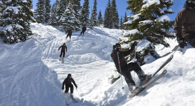 Skiers in Aspen