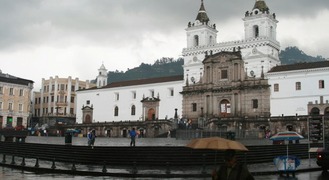 The historical center of Quito, Ecuador