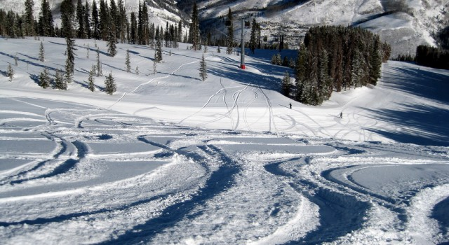 Ski trail at the Vail