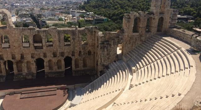 The Odeon itself seen from the Acropolis