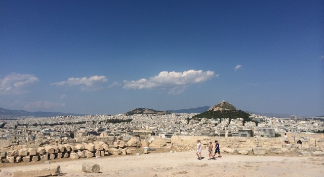 Athens is huge. A view of a part of the city from the Acropolis,