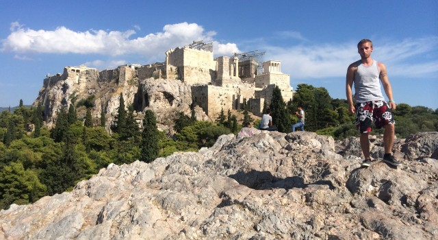The Acropolis with myself