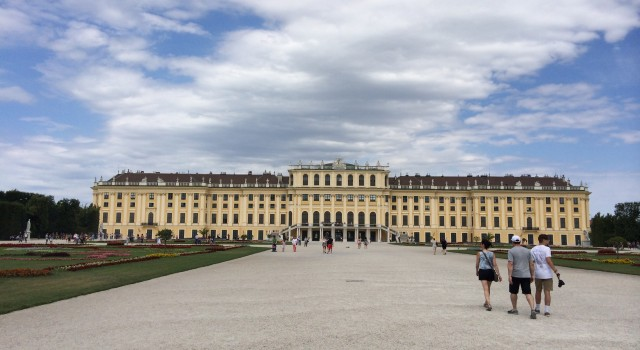 The Palace itself still shines powerfully above Vienna even nowadays