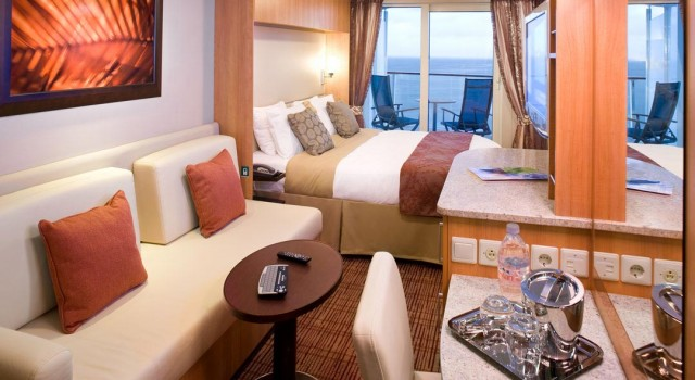 Balcony cabin on caribbean cruise with celebrity for Balcony cabin cruise deals
