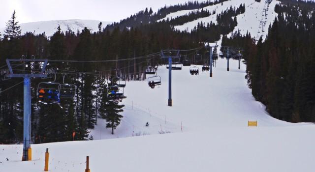 Ski lift in Breckenridge