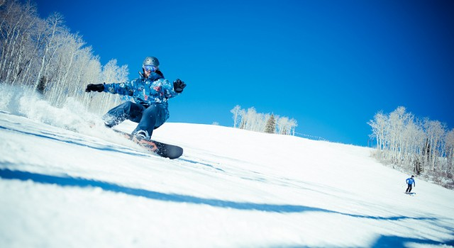 Snowboarding in Park City Mountain Resort