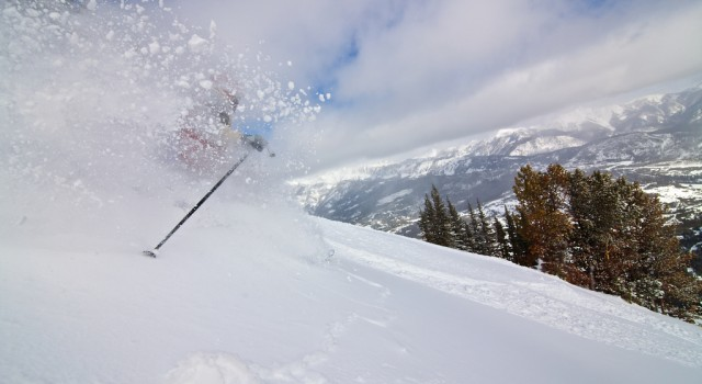 Expert skiing at Big Sky Resort