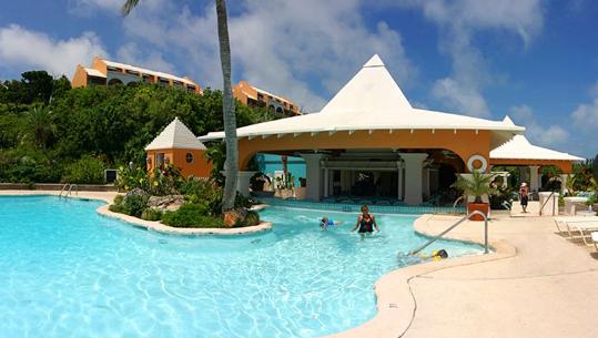 Pool view at Grotto Bay Beach Resort