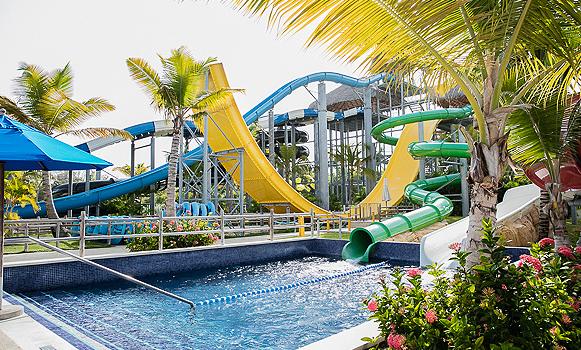 Water park at Memories Splash resort