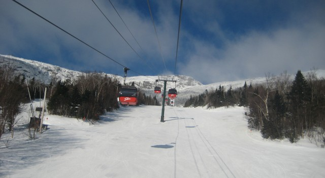 Gondola lift at Stowe Mountain Resort