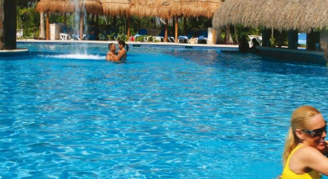 Pool view at Valentin Imperial Maya