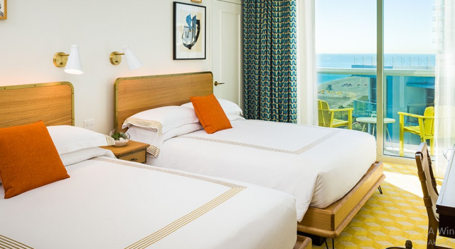 Ocean view room at Thompson Miami Beach