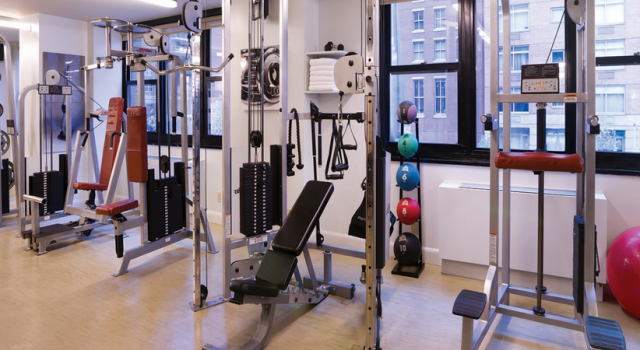 The gym at Dumont NYC