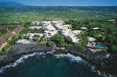 Outrigger Royal Sea Cliff resort aerial view