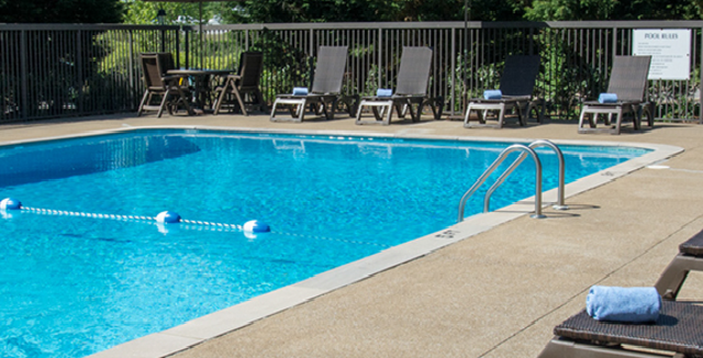 Outdoor pool at Hotel Preston