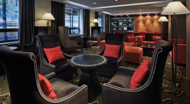 The lobby at Shelburne NYC hotel