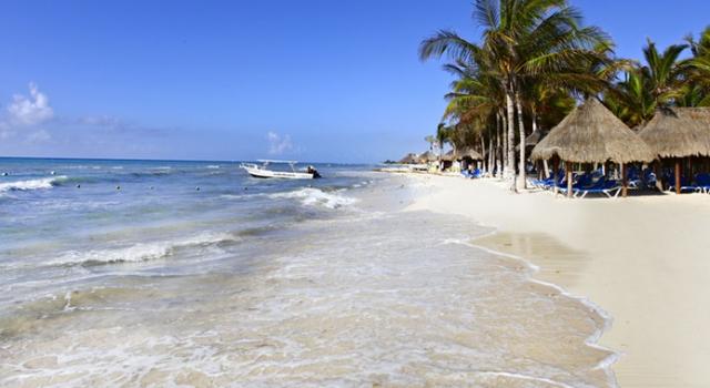 The beach at Sandos Caracol Eco Resort