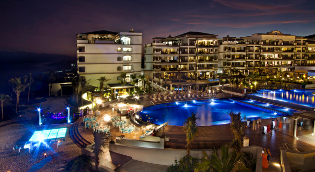 Night view at Grand Residences Riviera Cancun