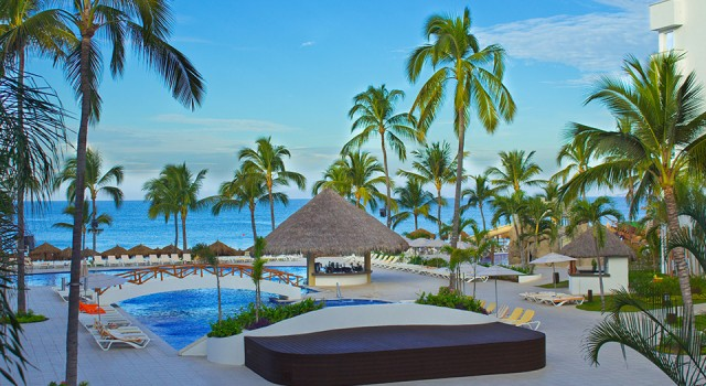 Pool and ocean view at Marival Resort and Suites Nuevo Vallarta
