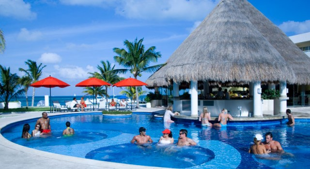 Pool view at Temptation Resort and Spa Cancun