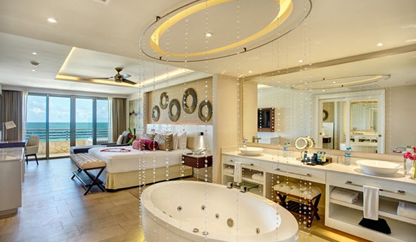 Honeymoon suite at Hideaway at Royalton Riviera Cancun