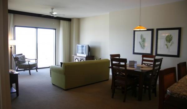 Condo living room at Origin Beach resort