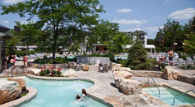 Pool view at Manoir Saint Sauveur Resort