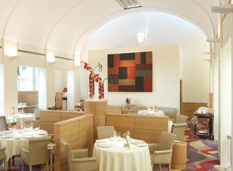 Restaurant at The Merrion hotel in Dublin