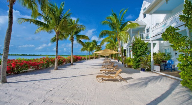 The beach at Parrot Key Hotel and Resort