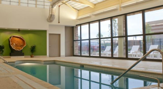 Indoor pool at Element Denver Park Meadows