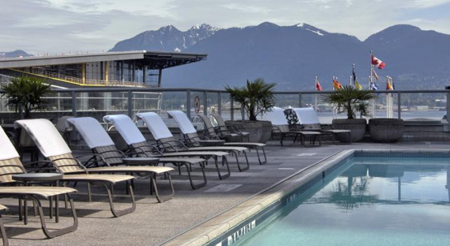 Outdoor pool at Fairmont Waterfront Hotel