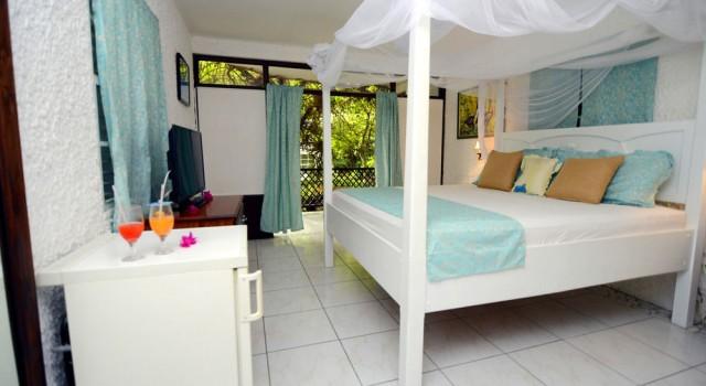 Guest room at The Hummingbird Beach Resort