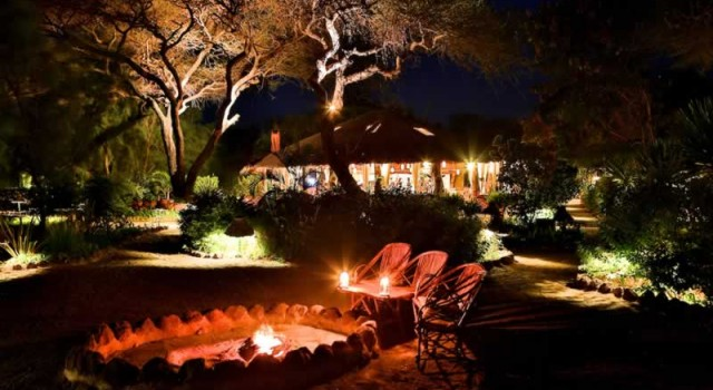 Night view of Kibo Safari Camp