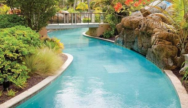 Lazy river pool at Marriott's Aruba Surf Club