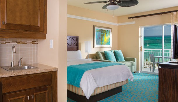 Oceanview room at Marriott's Aruba Surf Club