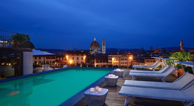 Rooftop pool at Grand Hotel Minerva