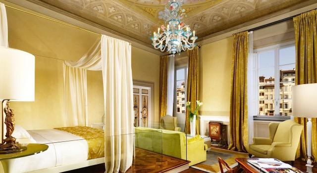 Frescoed room at Grand Hotel Minerva