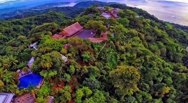 Aerial view of Villa Caletas