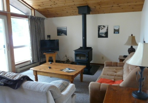 Inside a cottage at Walker Lake Resort