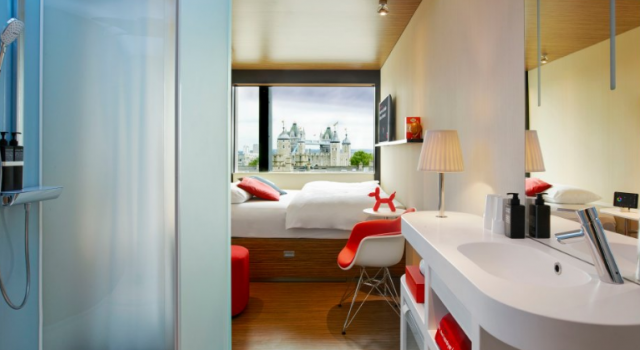 Guest room at CitizenM Tower of London