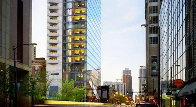 dana hotel and spa in Chicago - exterior view