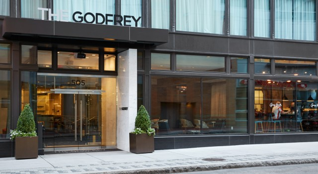 The Godfrey Hotel Boston - entrance view